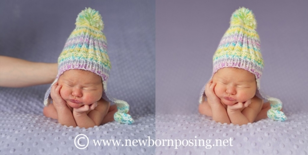 Newborn posing tutorial for frog pose